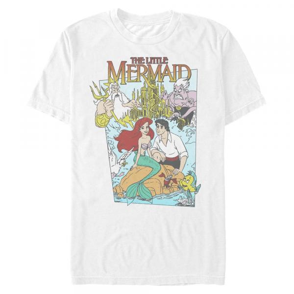 Mermaid Cover Group Shot - Disney The Little Mermaid - Men's T-Shirt - White - Front