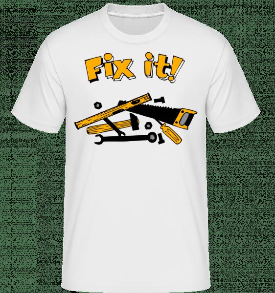 Fix It Symbol - Shirtinator Männer T-Shirt - Weiß - Vorn