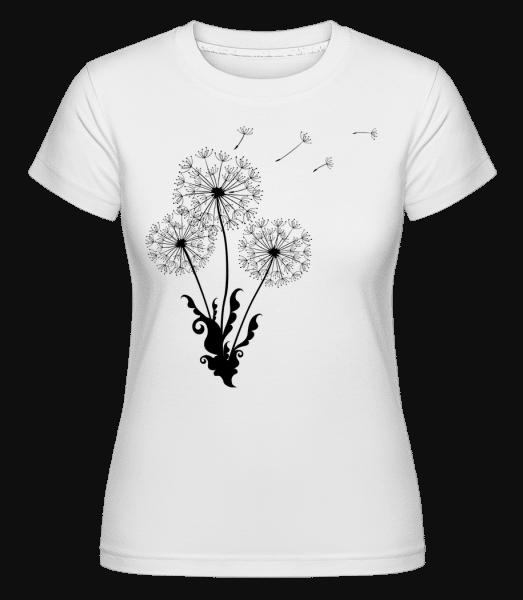 pampeliška Comic -  Shirtinator tričko pro dámy - Bílá - Napřed