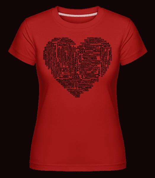 Yoga Heart -  Shirtinator Women's T-Shirt - Red - Vorn