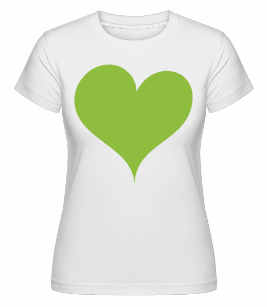 Stylish Heart -  Shirtinator Women's T-Shirt - White - Vorn