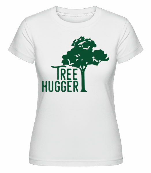 Tree Hugger - Shirtinator Frauen T-Shirt - Weiß - Vorn