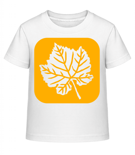 Autumn Leaf - Kid's Shirtinator T-Shirt - White - Front