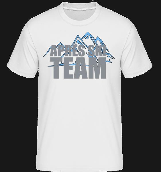 Tým Après Ski -  Shirtinator tričko pro pány - Bílá - Napřed