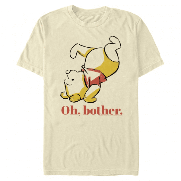 Oh Bother Bear - Disney Winnie the Pooh - Men's T-Shirt - Cream - Front
