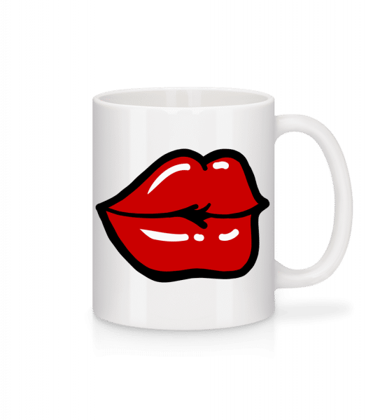 Red Lips - Mug - White - Front