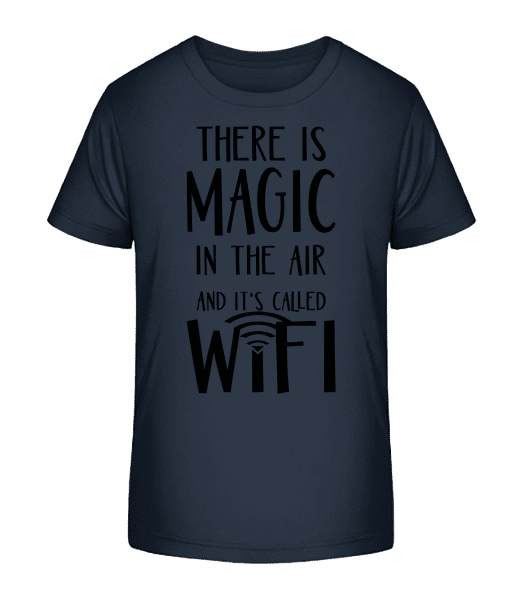 Magic In The Air - Kid's Premium Bio T-Shirt - Navy - Vorn