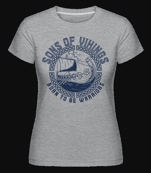 Sons Of Vikings -  Shirtinator Women's T-Shirt - Heather grey - Vorn