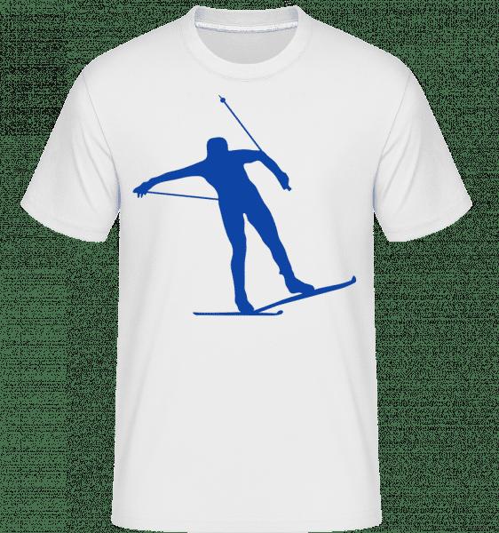 Skieur -  T-Shirt Shirtinator homme - Blanc - Vorn
