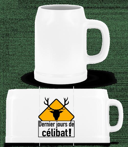 Célibat - Chope de bière - Blanc - Devant
