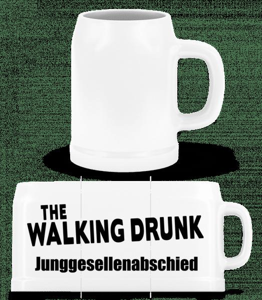 JGA The Walking Drunk - Bierkrug - Weiß - Vorn