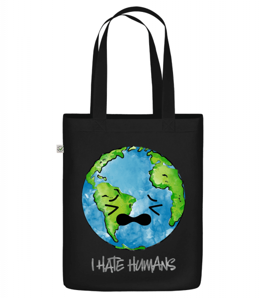 "Earth Hates Humans - Organic ""Earth Positive"" tote bag - Black - Vorn"