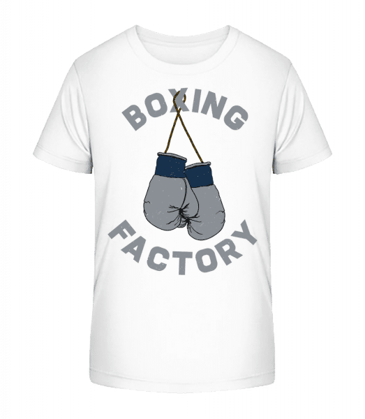 Boxing Factory - Kid's Premium Bio T-Shirt - White - Front