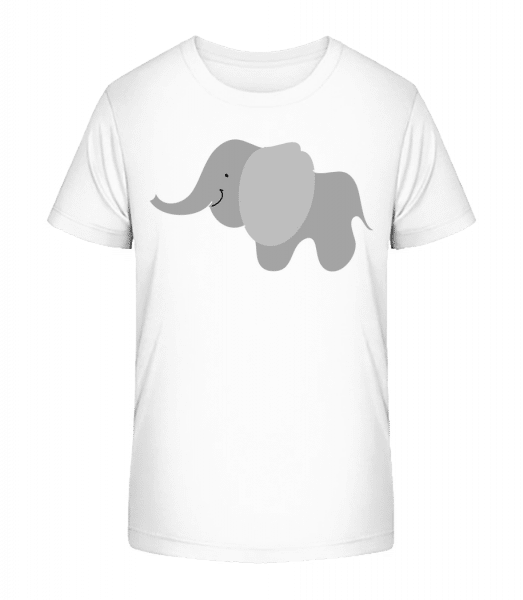 Kids Comic - Elephant - Kid's Premium Bio T-Shirt - White - Vorn