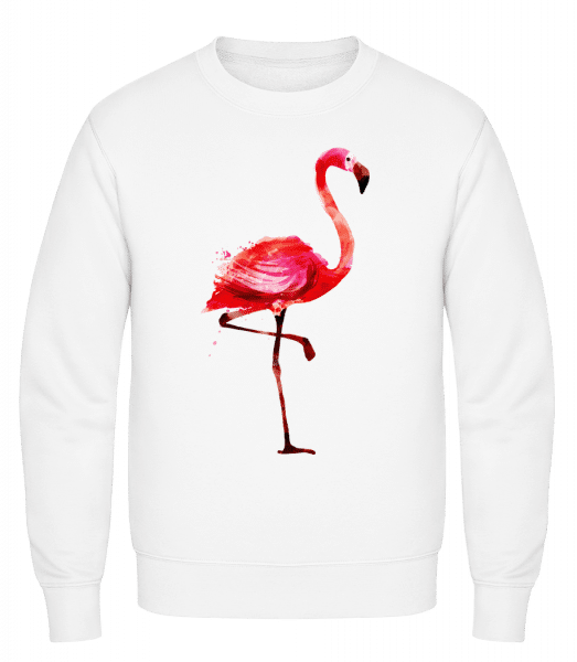 Flamingo - Classic Set-In Sweatshirt - White - Vorn