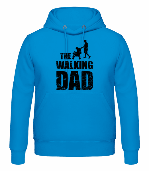 The Walking Dad - Men's Hoodie - Light blue - Vorn