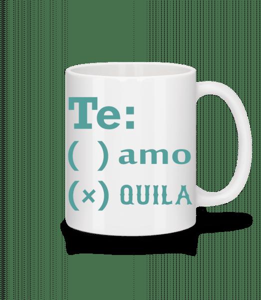 Te Amo Tequila - Tasse - Weiß - Vorn