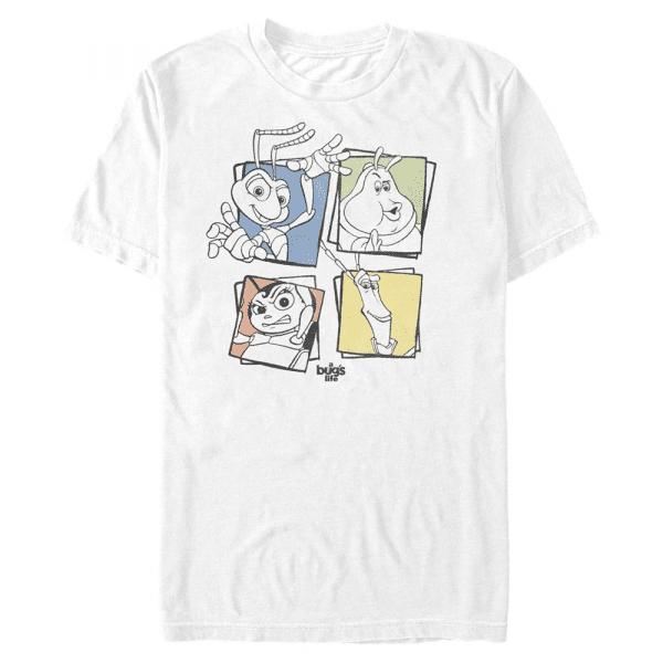 Four Up Group Shot - Pixar A Bug's Life - Men's T-Shirt - White - Front