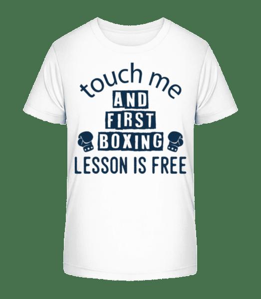 Free Boxing Lessons - Kid's Premium Bio T-Shirt - White - Vorn