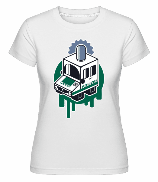 Police -  Shirtinator Women's T-Shirt - White - Vorn