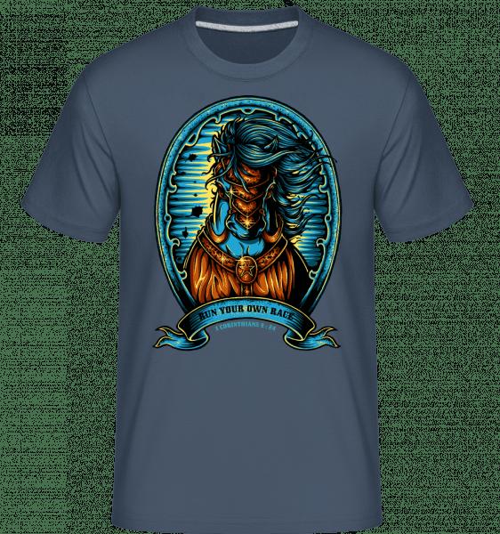 Run Your Own Race -  Shirtinator Men's T-Shirt - Denim - Vorn