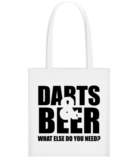 Darts And Beer - Carrier Bag - White - Vorn
