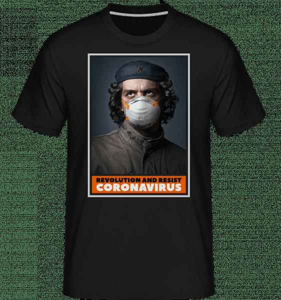 Revolution And Resist -  Shirtinator tričko pro pány - Černá - Napřed
