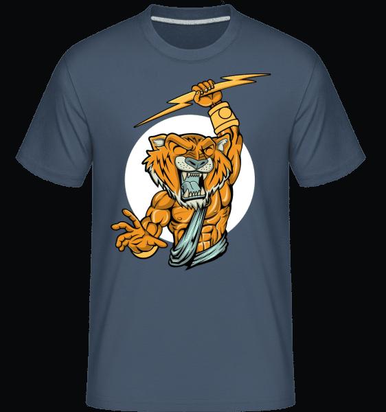 Tiger Zeus -  Shirtinator Men's T-Shirt - Denim - Vorn