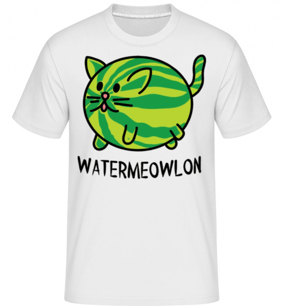 Watermeowlon -  Shirtinator Men's T-Shirt - White - Front