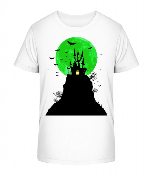 Ghost Castle - Kid's Premium Bio T-Shirt - White - Front