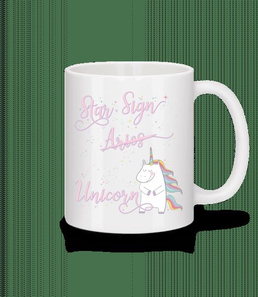 Star Sign Unicorn Aries - Tasse - Weiß - Vorn