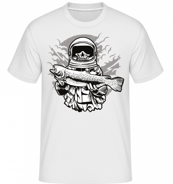 Astronaut Fishing -  Shirtinator Men's T-Shirt - White - Front
