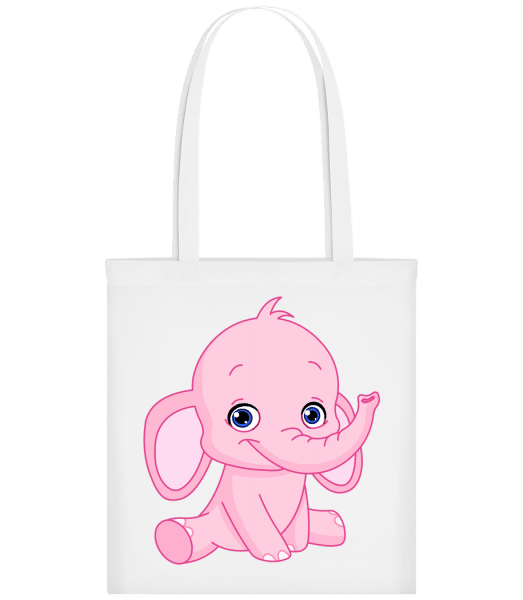 Elephant Comic - Carrier Bag - White - Vorn