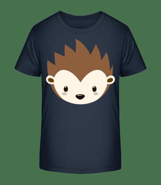 Hedgehog Comic - Detské Premium Bio tričko - Namořnická modrá - Napřed