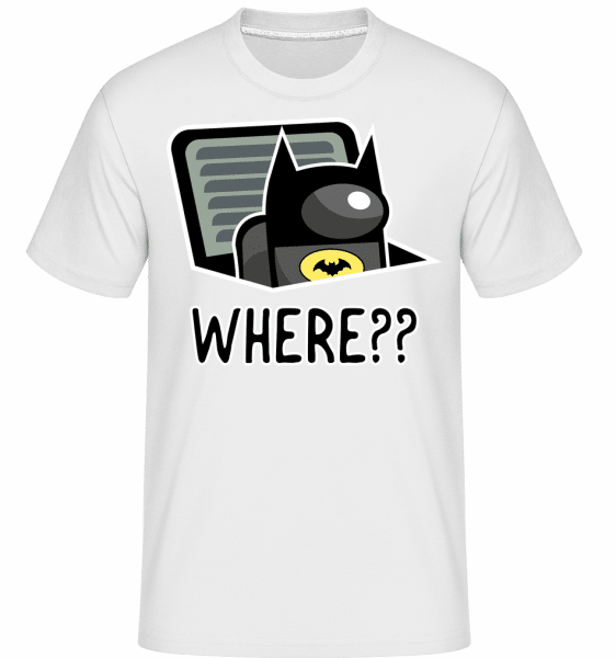 Batman Style Among Us Imposter -  Shirtinator Men's T-Shirt - White - Vorn