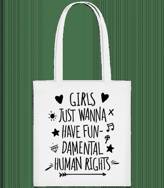 Damental Human Rights - Carrier Bag - White - Vorn