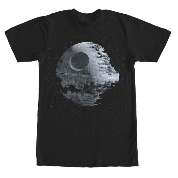 Death Star Stars - Star Wars - Men's T-Shirt - Black - Front