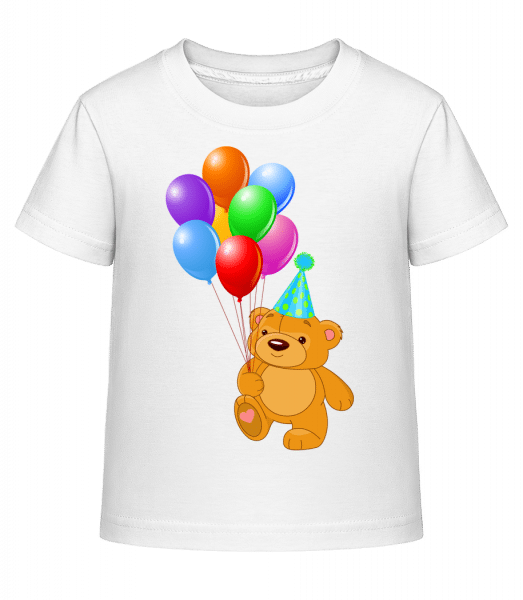 Bear with Balloons - Kid's Shirtinator T-Shirt - White - Vorn