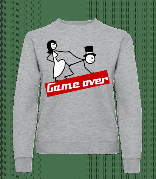 Game Over - Frauen Pullover - Grau Meliert - Vorn