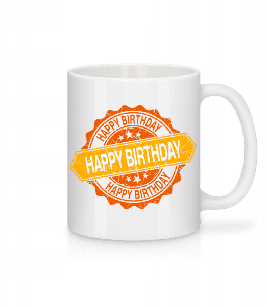 Happy Birthday Logo - Mug - White - Vorn