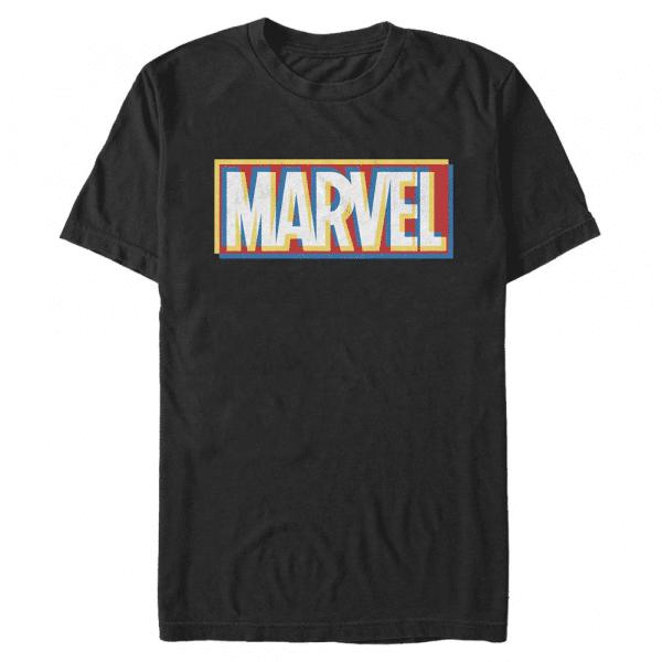 Marvel Offset Logo - Men's T-Shirt - Black - Front