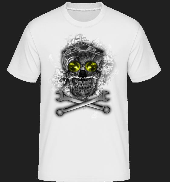 Machine Skull -  Shirtinator Men's T-Shirt - White - Vorn