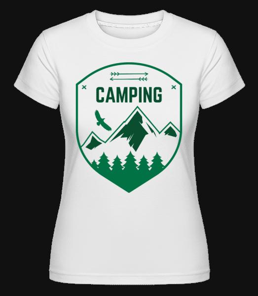 Camping Sign -  Shirtinator tričko pro dámy - Bílá - Napřed