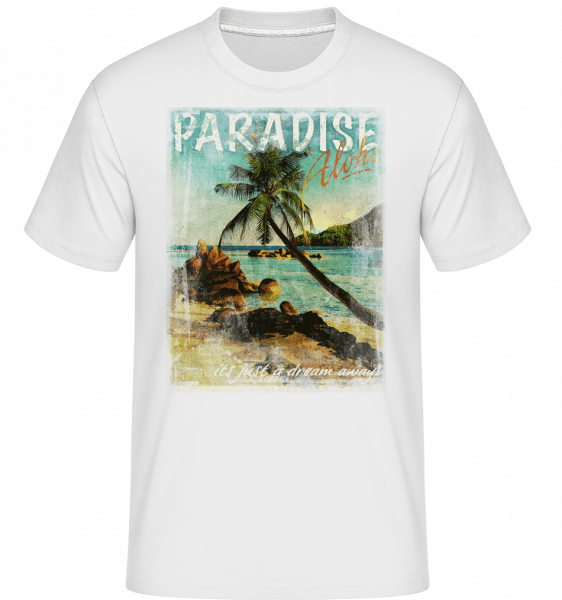 Paradise Aloha -  Shirtinator Men's T-Shirt - White - Vorn