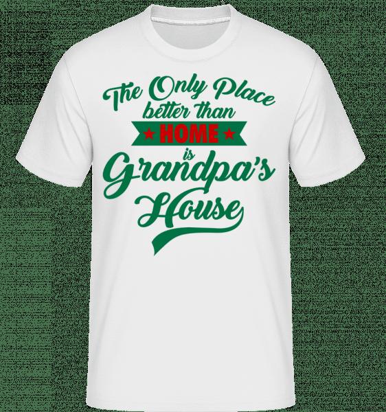 Grandpas House -  T-Shirt Shirtinator homme - Blanc - Devant
