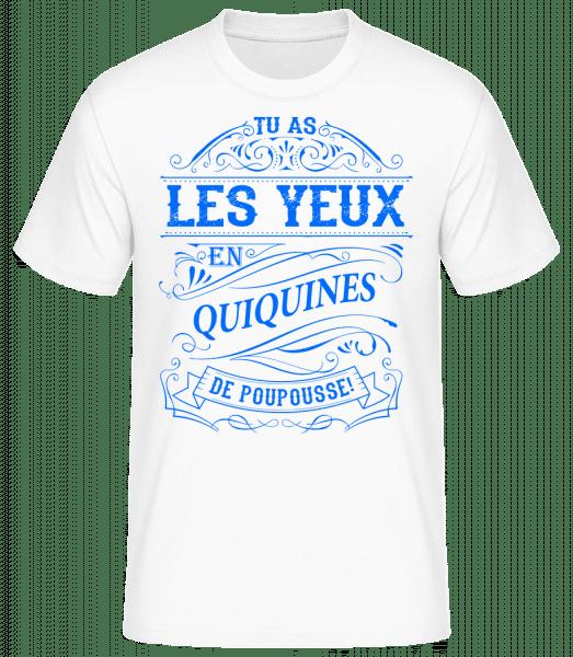Les Yeux En Quiquines - T-shirt standard homme - Blanc - Devant