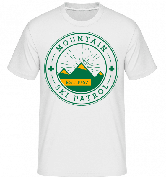 Mountain Ski Patrol Sign -  T-Shirt Shirtinator homme - Blanc - Devant