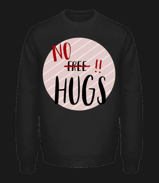 žiadne Hugs - Unisex mikina - Čierna - Predné