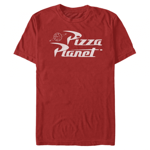 Pizza Planet - Pixar Toy Story 1-3 - Men's T-Shirt - Red - Front