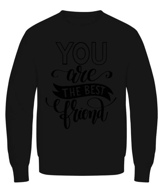 You Are The Best Friend - Men's Sweatshirt - Black - Front